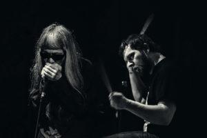 Keiji Haino/Balázs Pándi-duo. Foto: Collage.